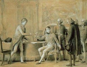 Signature du Concordat avec le Saint Siège en 1801, le traité qui a réetabli la paix réligieuse. Le Concordat.