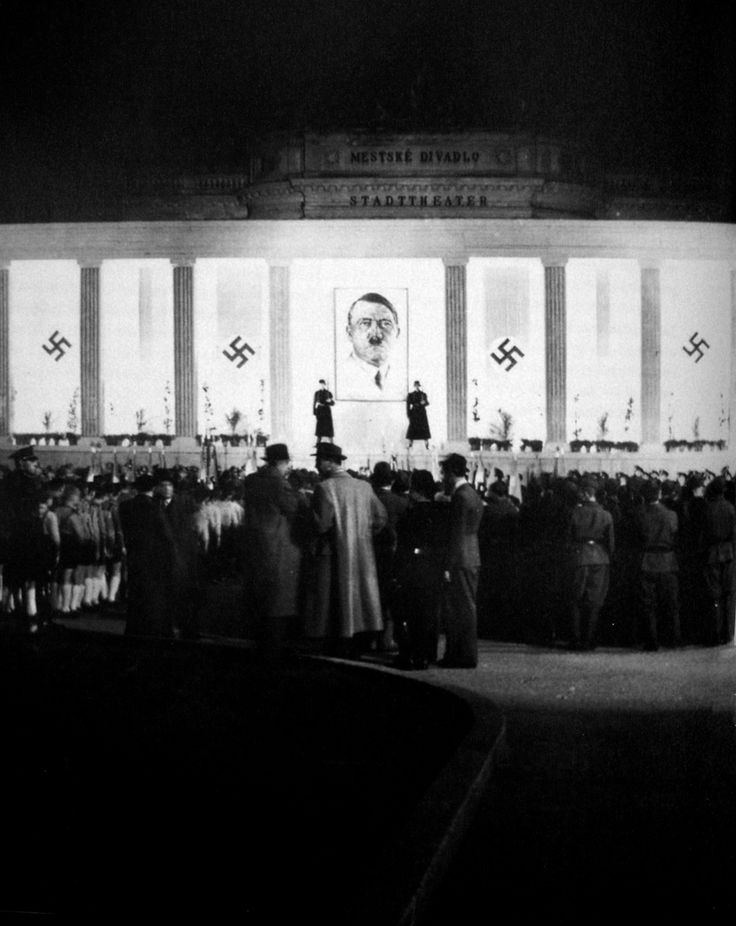 Celebration of Adolf Hitler's birthday in the Slovak capital Bratislava on the 20th of April 1941