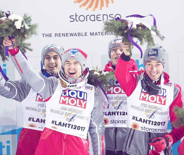 "1,183 Likes, 5 Comments - Lahti2017 (@lahti2017) on Instagram: ""Poland won #fisskijumping Men's Team Competition with team Piotr Zyla, Dawid Kubacki, Maciej Kot…"""