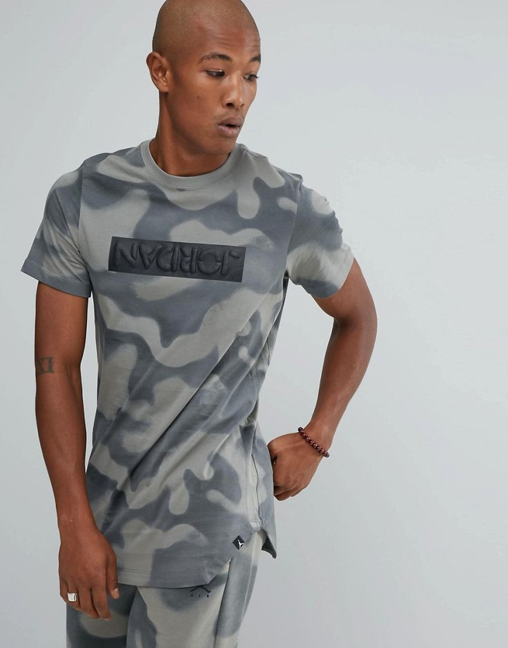 Get this Jordan's printed t-shirt now! Click for more details. Worldwide shipping. Nike Jordan Camo T-Shirt In Grey 864925-004 - Grey: T-shirt by Jordan, Supplier code: 864925-004, Soft-touch jersey, Camouflage print, Crew neck, Contrast panel, Jordan logo, Curved hem, Regular fit - true to size, Machine wash, 100% Cotton, Our model wears a size Medium and is 191cm/6'3 tall. Ever since his game-changing jump shot sealed the 1982 NCAA Championship, Michael Jordan has been setting new…