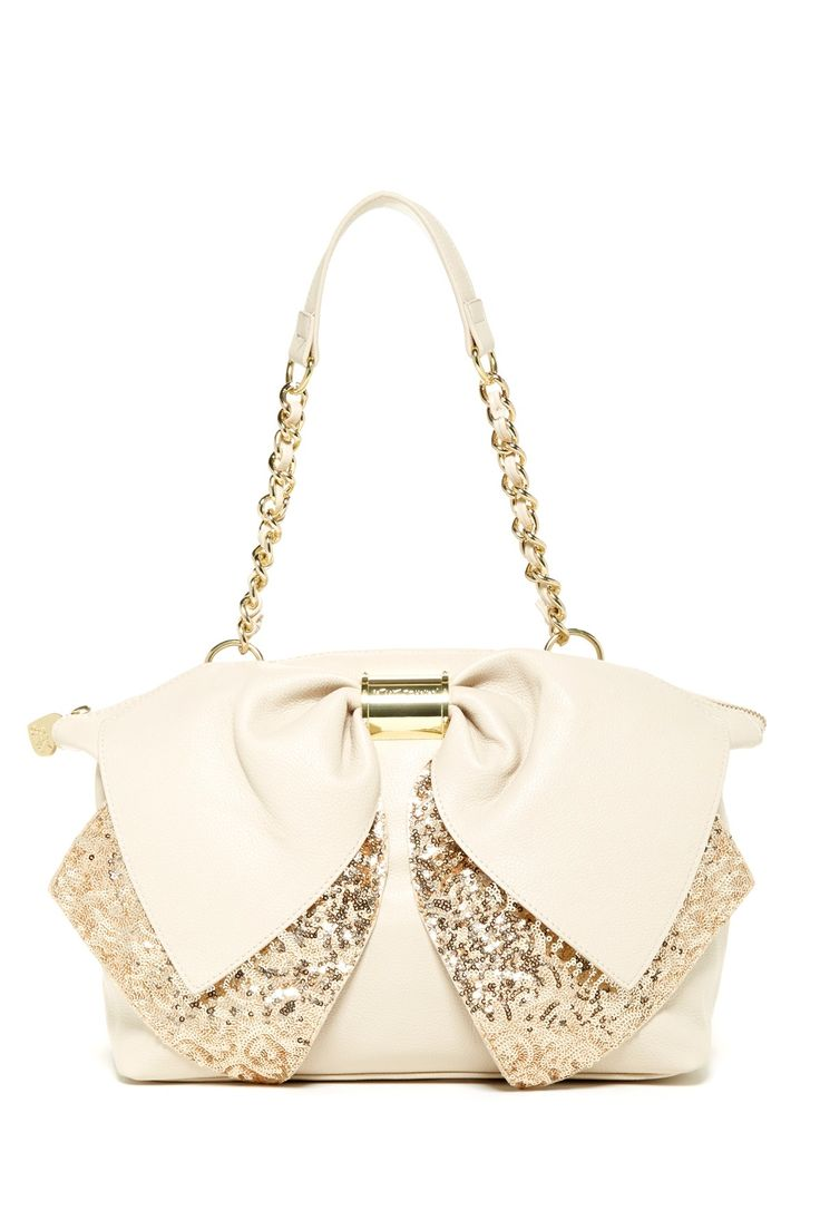 betsey johnson bow nanza satchel purse passion pinterest beautiful powder and bags. Black Bedroom Furniture Sets. Home Design Ideas