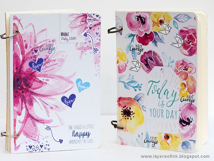 Make Today Your Day With This Gorgeous Planner DIY / Sizzix Blog, by Anna-Karin Evaldsson. Made with papers, stamps and dies by Katelyn Lizardi.