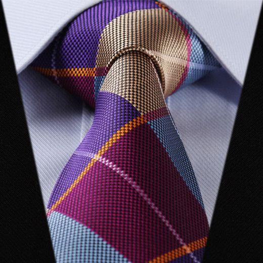 Elegantná sada - hodvábna kravata s vreckovkou - vzor07
