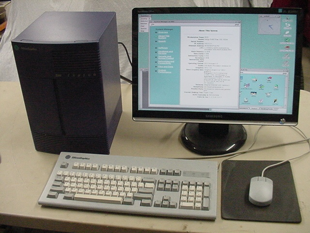 SGI Indigo R4K with Elan Graphics Keyboard Mouse and Irix 6 5