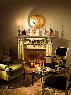 gothic living rooms gothic room gothic halloween halloween ideas room ...