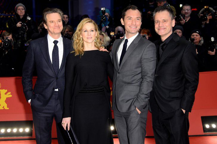 Pin for Later: Colin Firth and Jude Law Add a Touch of Class to the Berlin Film Festival Colin Firth, Laura Linney, Jude Law, and Michael Grandage
