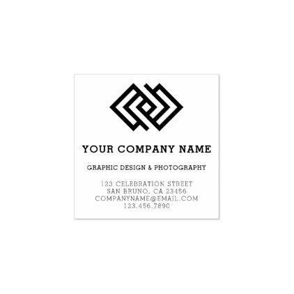 Create Your Own Custom Logo Business Details Rubber Stamp