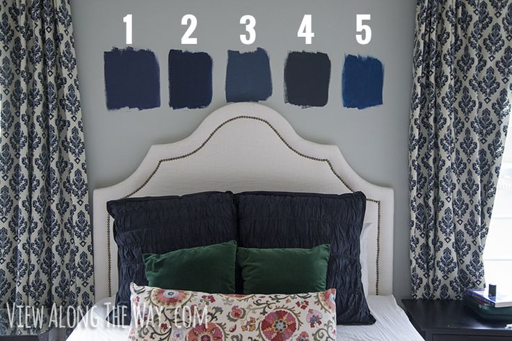 Choosing Ben Moore Navy Blue: 1. Stunning #826  2. Old Navy 2063-10 3. Van Deusen Blue HC-156  4. Hale Navy HC-154 5. Downpour Blue 2063-20