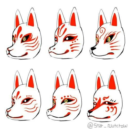 These are Japanese fox masks. The Japanese revere foxes. They catch mice, thus saving rice in the fields.