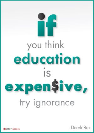 Office Posters - Witty Poster - Education is Expensive | Posters ...