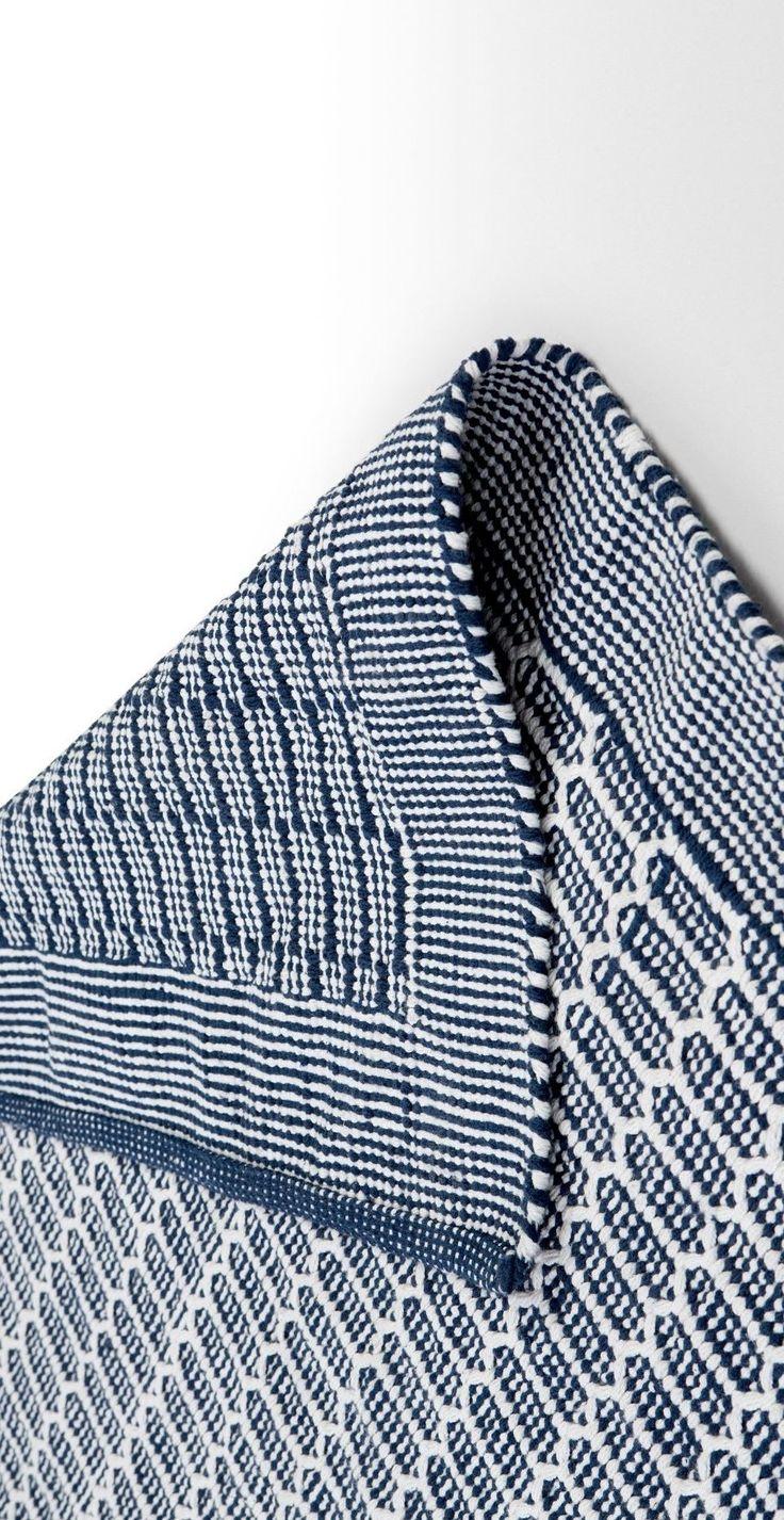 Arlo Flatweave Rug 240 x 170cm, Blue and White