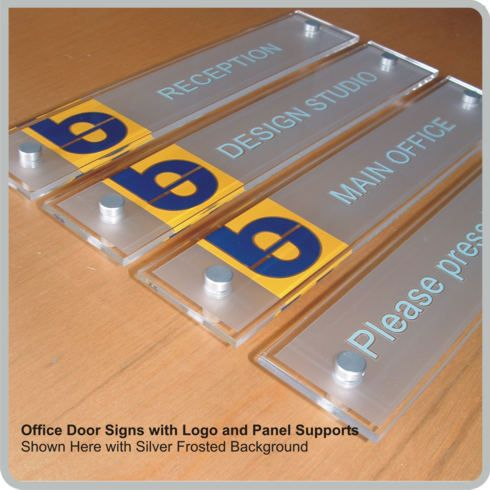 office door signs with logos | personalized nameplates | sliding