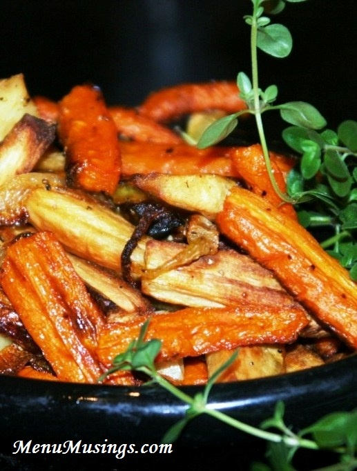"""Roasted Carrots and Parsnips - not a """"fancy"""" recipe, but oh my goodness these are so fabulous!!"""