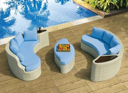 Vibrant blue outdoor furniture