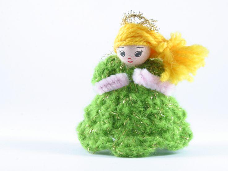 angelo verde di Un Cesto di Gomitoli su DaWanda.com