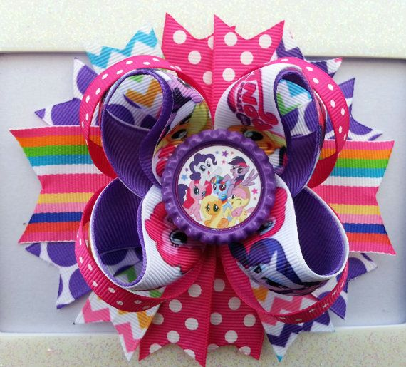 My Little Pony Hair Bow /My Little Pony by DLovelyBOWtique on Etsy, $10.00