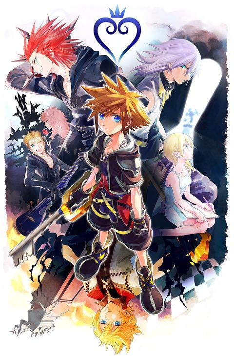 The boys of Kingdom Hearts.  And doesn't Riku look lovely in this picture~