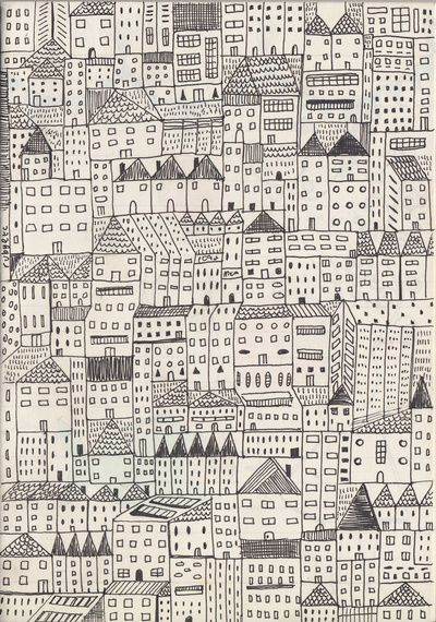 city Stretched Canvas