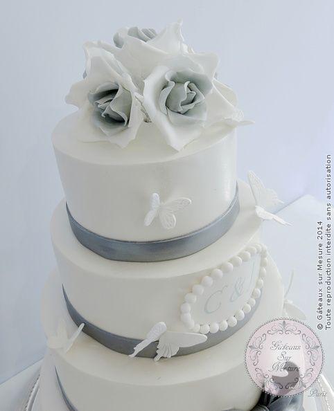 Exposition Cake Design : White wedding cake (from Gateaux sur Mesure Paris ...