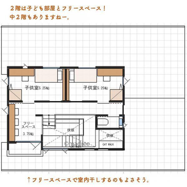 将来は平屋にも 主寝室が1階でぐるぐる動線間取り Folk 2ページ 間取り 主寝室 マドリー