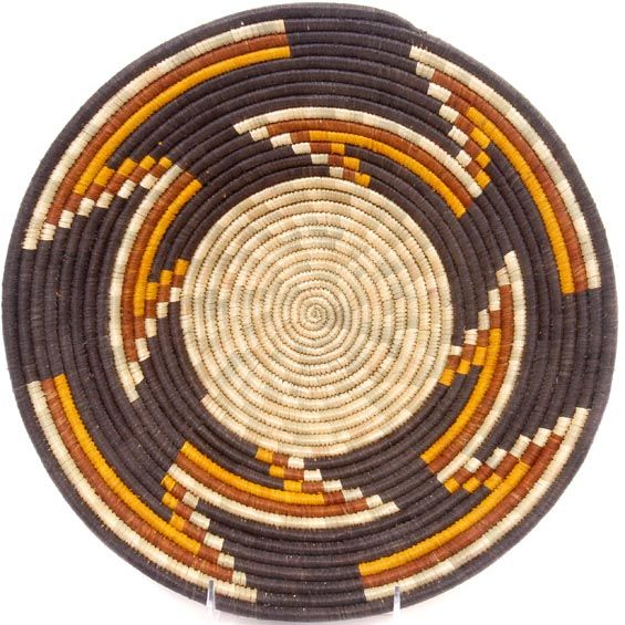 African Basket - Uganda - Rwenzori Bowl - 12.25 Inches Across - #48992