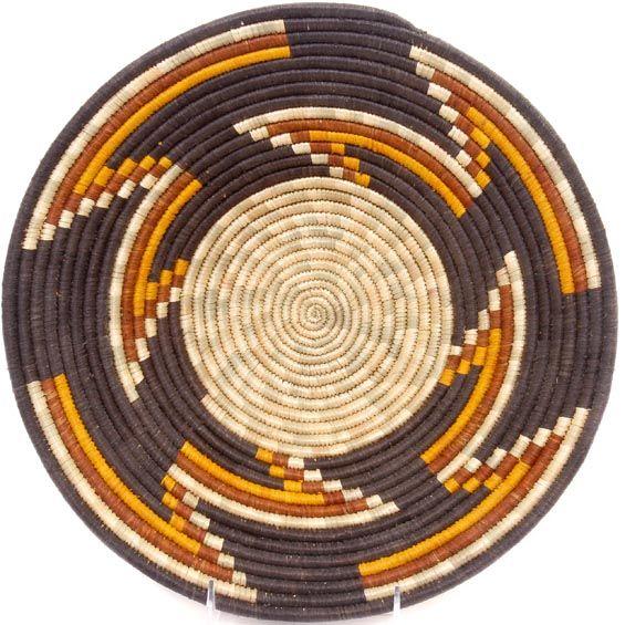 African Basket - Uganda - Rwenzori Bowl - 12.25 Inches Across - #48992