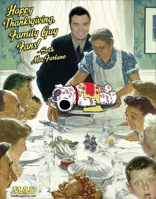 Freedom From Want, Family Guy Thanksgigving card from Seth MacFarlane