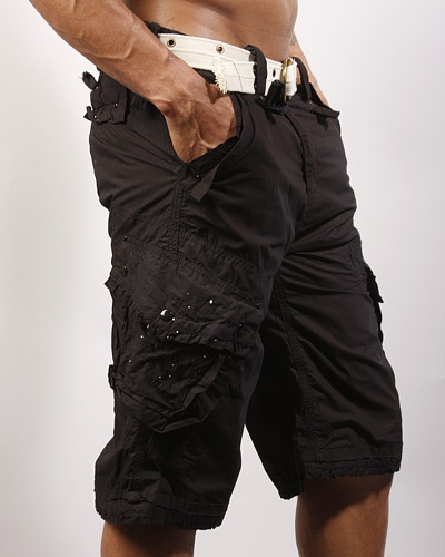 black cargo shorts dress my man pinterest image