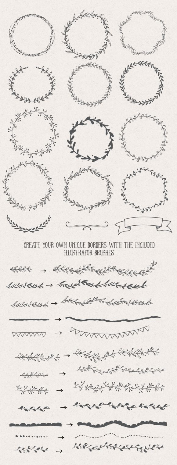 Handsketched Designer's Branding Kit by Nicky Laatz at CreativeMarket
