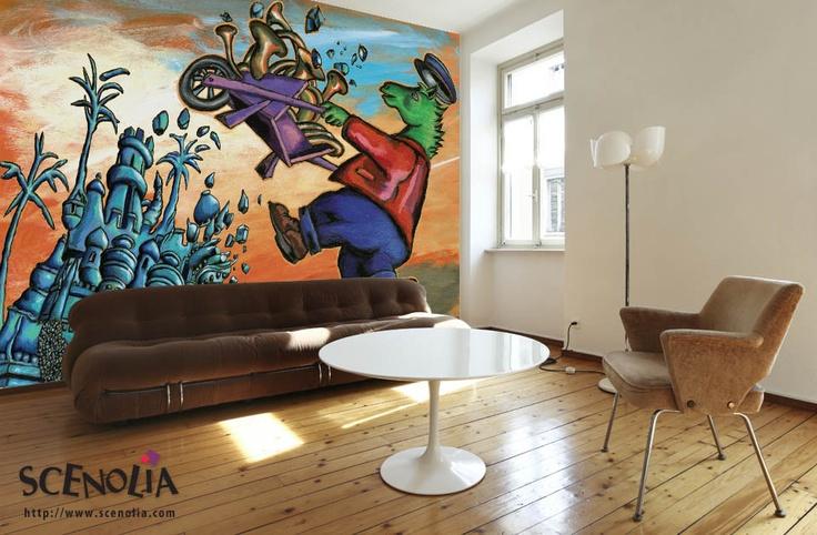 Revêtement panoramique PALAIS CHEVAL http://www.scenolia.com/papier-peint-panoramique-4m/911-palais-cheval-thery.html