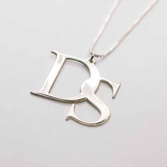 Initial Necklace 2 Initials Necklace 2 Letters Necklace 2 Initials Charm Necklace Sterling Silver Initial Necklace Customized Gift In 2021 Sterling Silver Initial Necklace Girly Jewelry Sterling Silver Initial