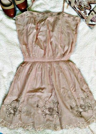 Kup mój przedmiot na #vintedpl http://www.vinted.pl/damska-odziez/krotkie-sukienki/17546095-nowa-tunika-sukienka-asos-blady-roz-haft-roz-xl