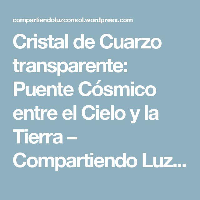 Cristal de Cuarzo transparente: Puente Cósmico entre el Cielo y la Tierra – Compartiendo Luz con Sol