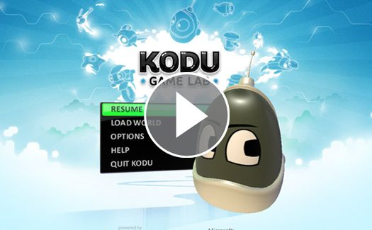 Kids can create their own games on the PC and Xbox with Kodu.