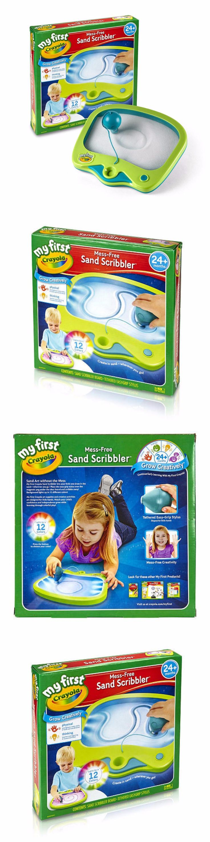 Other Kids Drawing and Painting 160718: Crayola Kids Fun Little Sand Draw Writing Scribbler Learning Play Board Toy Set -> BUY IT NOW ONLY: $35.99 on eBay!