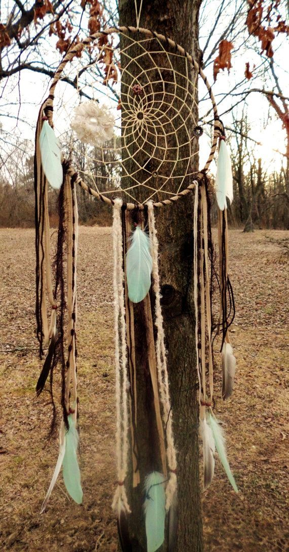 Large Native American Dream Catchers | Cloud Atlas Large Dream Catcher, Native American. Gypsy, Boho ...