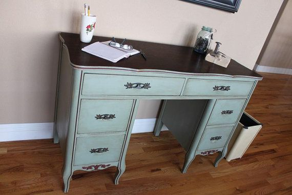 Hey, I found this really awesome Etsy listing at https://www.etsy.com/listing/175564644/vintage-french-provincial-desk-shabby