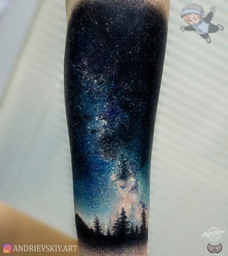 Тату космос, Tattoo,space