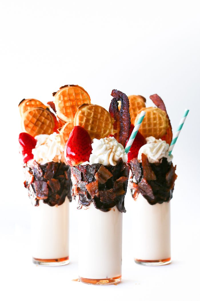 Candied Bacon and Waffle Milkshakes // Salty Canary
