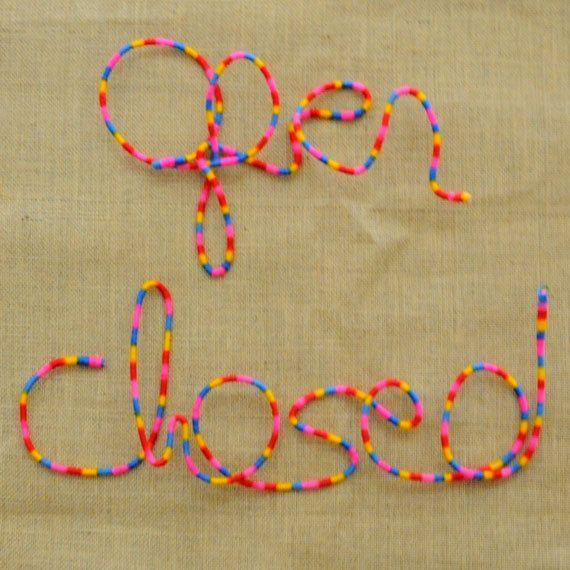 Open n Closed  Wool Wrapped Letters for by HandmadeByNehaBajaj