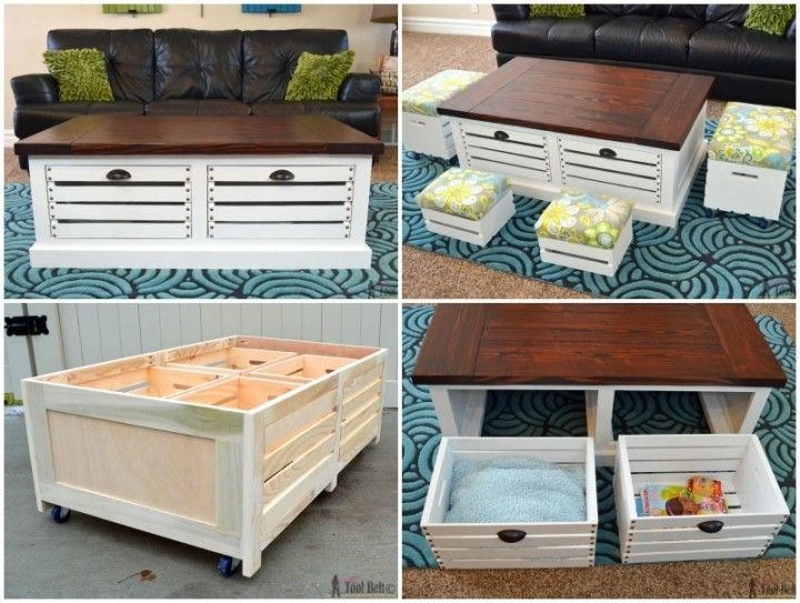 Diy Wine Crate Coffee Table Projects And Tutorials Projects To Try Pinterest Wine Crate