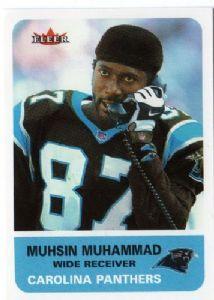 #2 WR #4 Panther Muhsin Muhammad  19962009155WR88