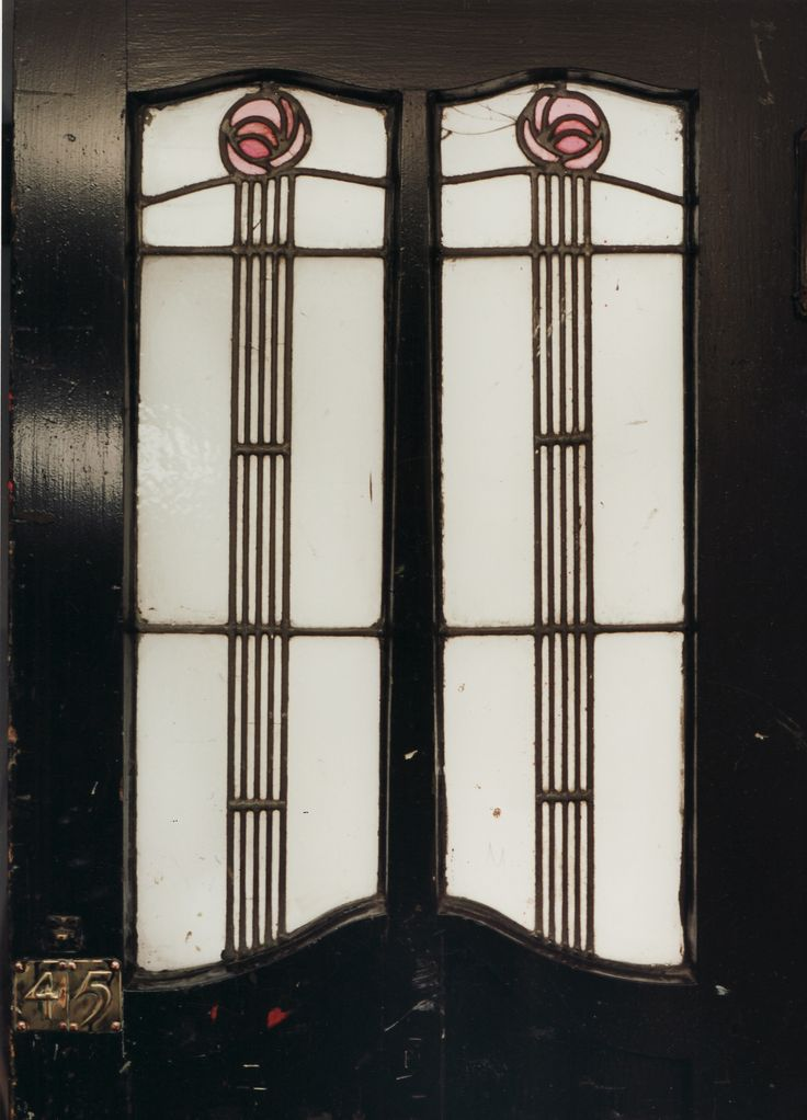 Mackintosh stained glass doors.