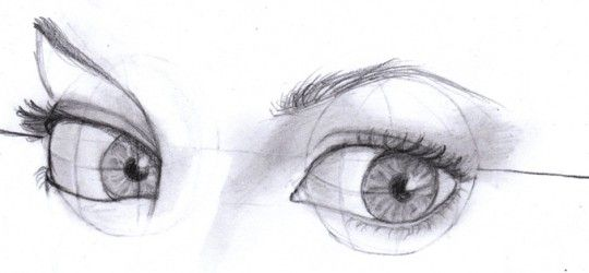 how to draw eyes nose mouth