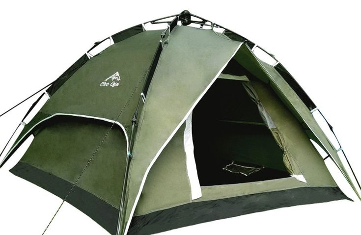 CHO OYU Outdoor Double Layer Tent,Camping Tent,2-3 Persons Tent,Automatic Tent,Army Green >>> You can get more details here : Hiking tents