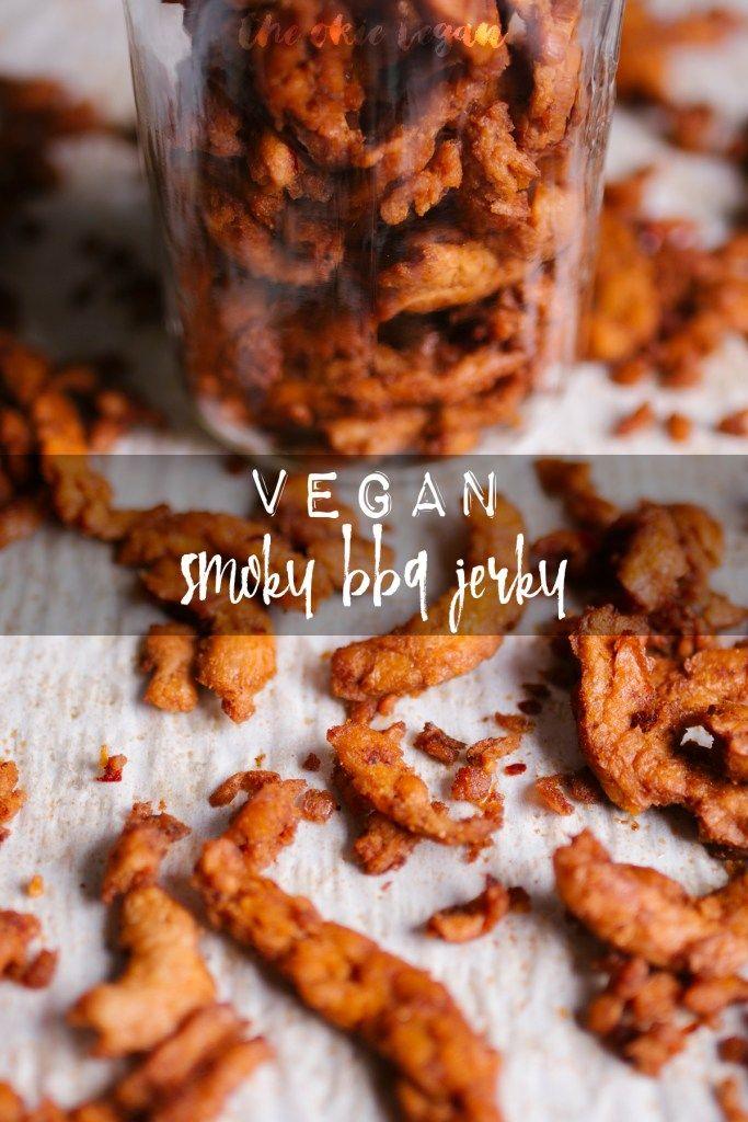 The Okie Vegan Smoky Bbq Jerky In 2020 Vegan Jerky Beef Jerky Recipes Savory Snacks