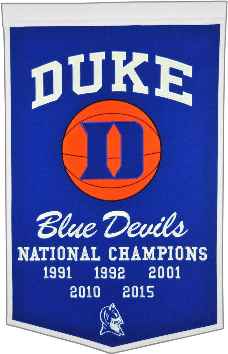 Duke Blue Devils Basketball National Champions Banner in