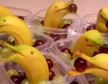 Banana Dolphins for snacks.