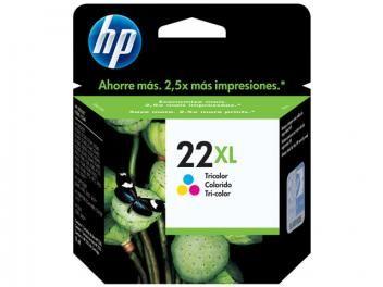 Cartucho de Tinta HP Colorido 22 XL - Original