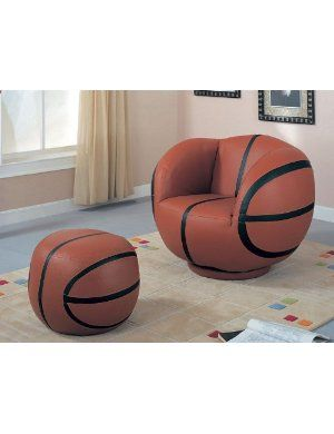 Children Basketball chair and Ottoma? Ryan would love this. :)  shoot i want this for my room